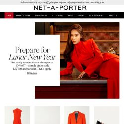 [NET-A-PORTER] A special 10% off* awaits you for Lunar New Year