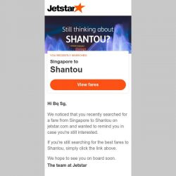 [Jetstar] Still thinking about Shantou, Bq Sg?