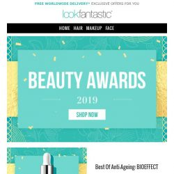 [lookfantastic] Beauty Awards - Offers up to 35% Off