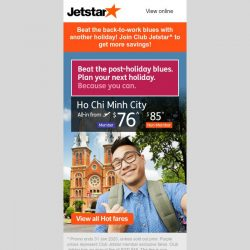 [Jetstar] Craving for another holiday? ✈ Book your next getaway with these flight deals.