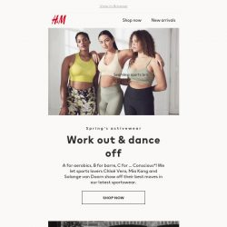 [H&M] Just in time for your next workout! 🤸♀️