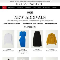 [NET-A-PORTER] Ready, set, shop! Discover today's What's New now