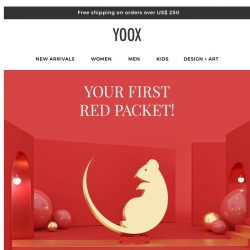 [Yoox] Lunar New Year promotion is nearly over ! 25% OFF Full-Price + 15% off Sale items