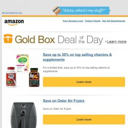 [Amazon] Save up to 30% on top selling vitamins &...