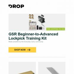 [Massdrop] GSR Beginner-to-Advanced Lockpick Training Kit, Fallkniven DC521 Diamond/Ceramic Dual Bench Stone, CJRB Rampart D2 Folding Knife and more...