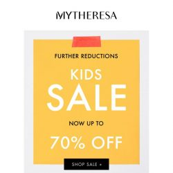[mytheresa] Kids' sale now has further reductions up to 70% off + our top picks from sale