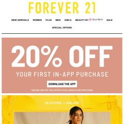 [FOREVER 21] It's New!