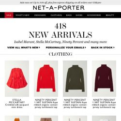 [NET-A-PORTER] Treat yourself to something new — you deserve it
