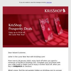 [Singapore Airlines] Usher in the Lunar New Year with KrisShop.com