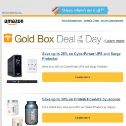 [Amazon] Save up to 26% on CyberPower UPS and Surge...