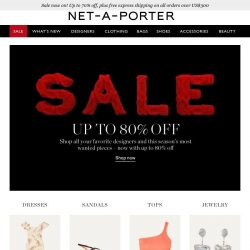 [NET-A-PORTER] Sale update: get up to 80% off now