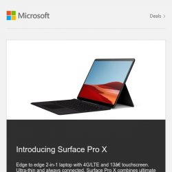 [Microsoft Store] Introducing New Surface Pro X | Shop Now