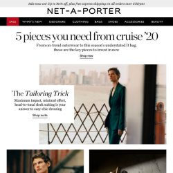 [NET-A-PORTER] 5 pieces you need from the Cruise '20 collections