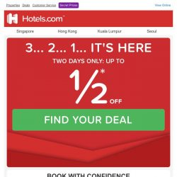[Hotels.com] You scored! We picked you: open to discover - Book now!
