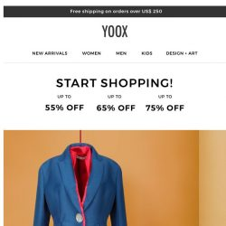 [Yoox] Don't. Miss. Out. Up to 75% OFF
