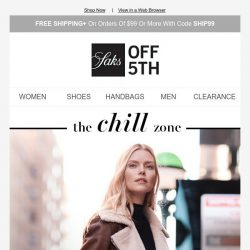 [Saks OFF 5th] Extra 50% OFF coats, boots, cashmere & more with code WARMUP