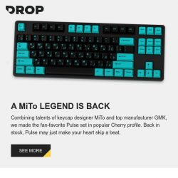 [Massdrop] Check your heart rate: Our MiTo GMK Pulse custom keycap set is back