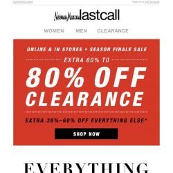 [Last Call] Extra 60%–80% off CLEARANCE deals