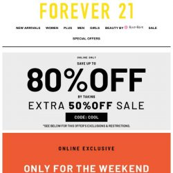 [FOREVER 21] THIS WEEKEND ONLY!