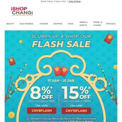 [iShopChangi] Quick as a 🐭? Race to enjoy 8% off!