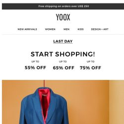 [Yoox] Up to 75% OFF: Can you believe it's the last day?