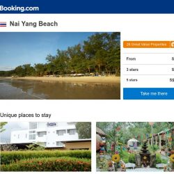 [Booking.com] Deals in Nai Yang Beach from S$ 24