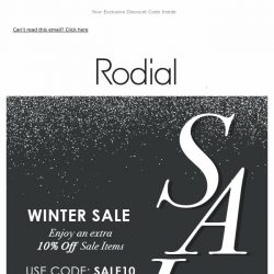 [RODIAL] Sale On Sale   Enjoy An Extra 10% Off ❤️