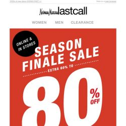 [Last Call] CLEARANCE extra 60%–80% off