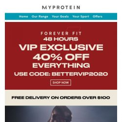 [MyProtein] 🏋️‍♀️Grab Your VIP Offer Inside 🏋️‍♂️