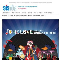 [SISTIC] One Love Asia Festival public sale starts NOW!