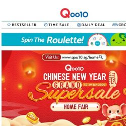 [Qoo10] 70% off CNY HOUSEHOLD ESSENTIAL ITEMS you need under $20! LAST 2 Days!! Hurry don't miss this Auspicious CNY Deals.