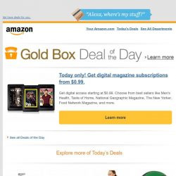 [Amazon] Today only! Get digital magazine subscriptions...