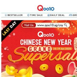 [Qoo10] *LAST DAY OF CNY GRAND SUPER SALE* Don't miss the chance to win $888 gift card!
