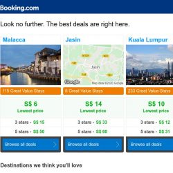 [Booking.com] Malacca deals – Book for less with your Genius rewards