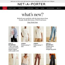 [NET-A-PORTER] Just in: see What's New for you