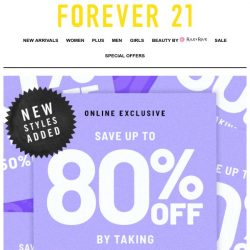 [FOREVER 21] YOU WON'T REGRET THIS