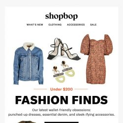 [Shopbop] The best pieces under $200