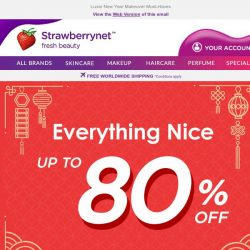 [StrawberryNet] 💁Up to 80% off New Year New You!