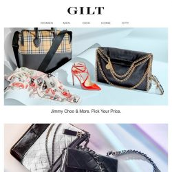 [Gilt] Jimmy Choo & More Luxe | Chanel & More: Beauty, Sunglasses & Pre-Loved Pieces