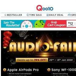 [Qoo10] Digital x AUDIO FAIR! Deals UP TO 70% OFF! From AirPods Pro/2, Samsung Galaxy Buds, Jabra & MANY MORE! >