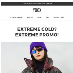 [Yoox] Weather alert: A cool 15% | 20% | 25% OFF!