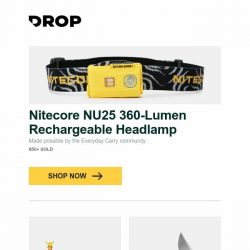 [Massdrop] Nitecore NU25 360-Lumen Rechargeable Headlamp, LAMY Safari Pokémon Pikachu Limited-Edition Set, Bestech Knives BG01 Lion D2/G-10 and more...