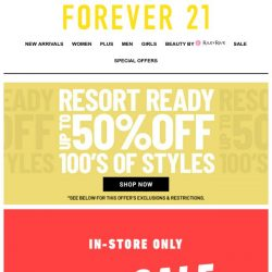 [FOREVER 21] 🚨 In-Store Only Sale-A-Thon Happening NOW! 🚨