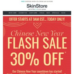 [SkinStore] Chinese New Year FLASH SALE...30% Off Now! 💥