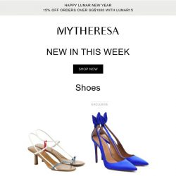 [mytheresa] Limited time free shipping + Don't miss out: 750+ new arrivals this week