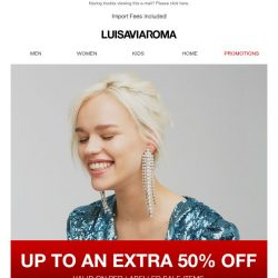 [LUISAVIAROMA] Just for you: Up to an extra 50% off sale items