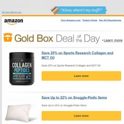 [Amazon] Save 25% on Sports Research Collagen and MCT Oil