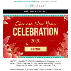 [lookfantastic] Happy Chinese New Year | 33% Off and more inside + Free Face Towel Set