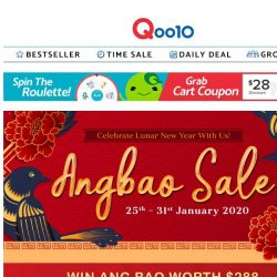 [Qoo10] ANG BAO SALE 25-31 Jan! Check out our top deals from each category and win ang bao gift card worth $288!
