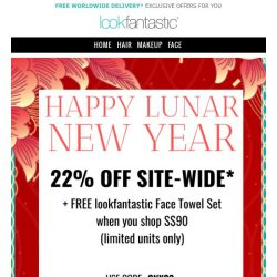 [lookfantastic] SUNDAY 22% OFF SITEWIDE + Free Limited Gifts
